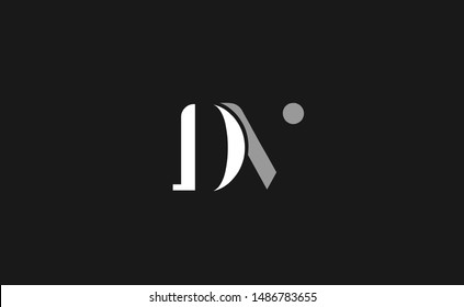 DV Letter Logo Design with Creative Modern Trendy Typography