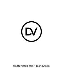 DV or VD logo design vector.