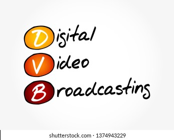 DVB - Digital Video Broadcasting acronym, technology concept background