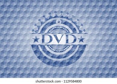 DVD blue polygonal emblem.