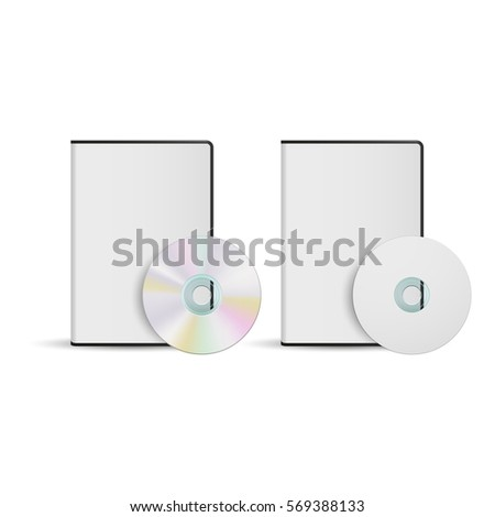 dvd disc box template your design stock vector royalty free