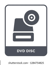 dvd disc icon vector on white background, dvd disc trendy filled icons from Music and media collection, dvd disc vector illustration