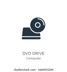 Dvd drive icon vector. Trendy flat dvd drive icon from computer collection isolated on white background. Vector illustration can be used for web and mobile graphic design, logo, eps10