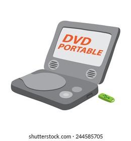 dvd player portable vector