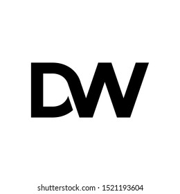 DW letter logo can be used for company, sign, and others.