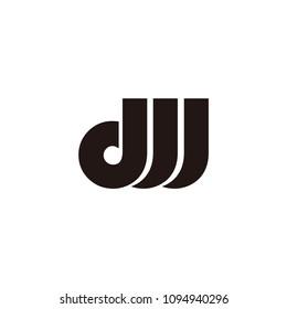 dw letter vector logo