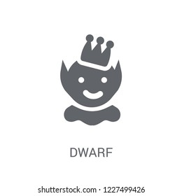 Dwarf icon. Trendy Dwarf logo concept on white background from Fairy Tale collection. Suitable for use on web apps, mobile apps and print media.