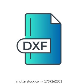 DXF File Format Icon. DXF extension gradiant icon.