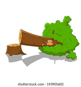 Cartoon Tree Cutting Images Stock Photos Vectors Shutterstock If you cut down a tree you should plant another one and most people don't replant trees. https www shutterstock com image vector dying tree 193905602