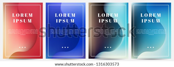 Dynamic A4 Covers Title Text Placement Stock Vector Royalty Free