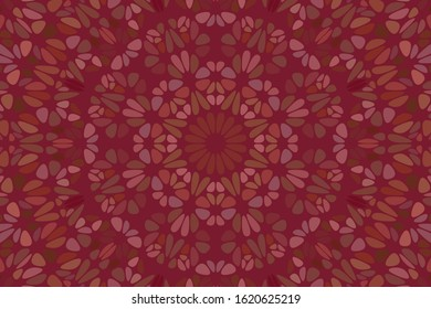 Dynamic abstract flower mosaic pattern background - hypnotic colorful vector illustration