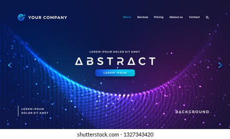Dynamic abstract liquid flow particles background. Futuristic and technology websites background. Shining abstract particle flow background. Futuristic background with dots combination.