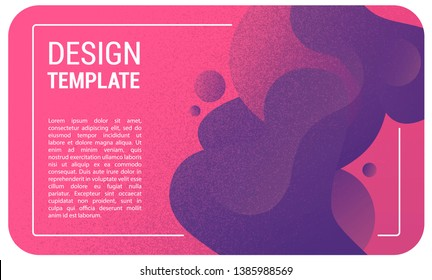 Dynamic abstract liquid poster. Futuristic background with shaps combination. Fluid vector gradient design for web page, banner, presentation, social media. Vector illustration.
