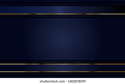 dynamic abtract nayv blue background with gold line. background abstract modern design. eps 10 vector editable files