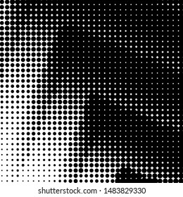 Dynamic Arrows Halftone, Pointillism Style, Background with Irregular, Chaotic Dots, Points, Circle, Abstract Monochrome Pattern, Black and White