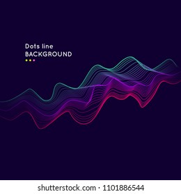 Dynamic background with lines and dots. Modern vector illustration for design