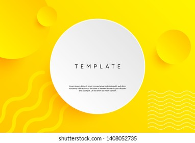 Dynamic background template with 3D shapes modern concept. minimal poster. ideal for banner, web, header, page, cover, billboard, brochure.