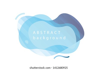 Dynamic blue modern fluid mobile for flash banners. Sale banner template design, transparent splash for title, text. Cold flat gradient theme. Sea concept for social network