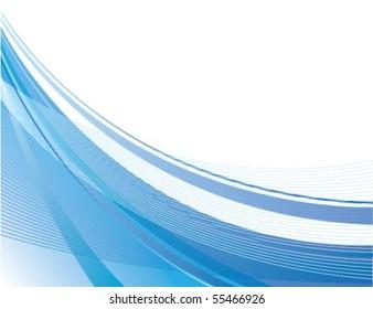 Dynamic Blue Swoosh