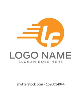 Dynamic and  Colorfull LF Abstract Logo Design Template