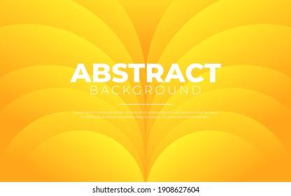 Dynamic fluid background. Orange color 3D style vector eps10