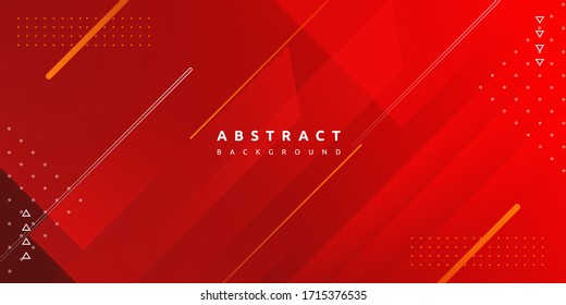 Dynamic fluid red geometric with colorful gradient background