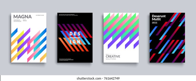 Dynamic geometric covers set. Cool minimal design. Eps10 vector.