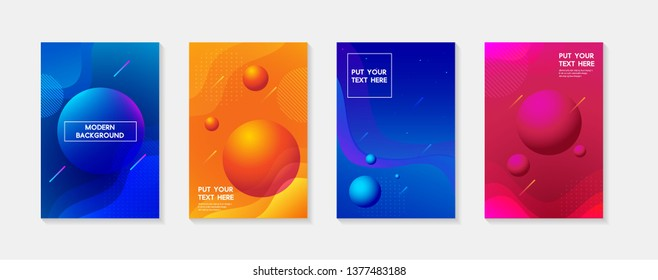 Dynamic geometric fluid shapes, wavy, dynamic, flowing and liquid abstract gradient background for banner, poster or book. vector design.