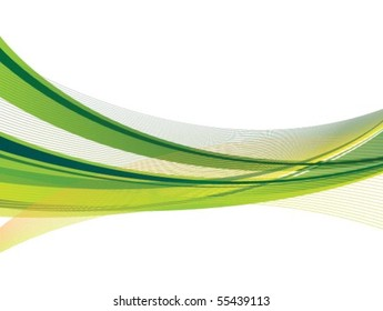 Dynamic Green and Yellow Swoosh