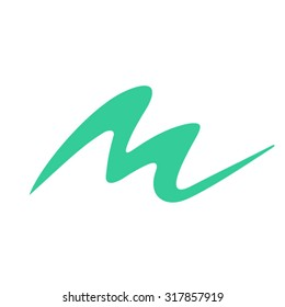 Dynamic letter M logo