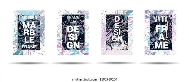 Dynamic Marble Texture Frame Vector Design. Liquid Paint Trendy Suminagashi Ad, Music Poster, Congratulations Card, Cover Background. Gradient Overlay Border, Abstract Vector Marble Texture Design