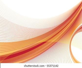 Dynamic Orange and Red Swoosh