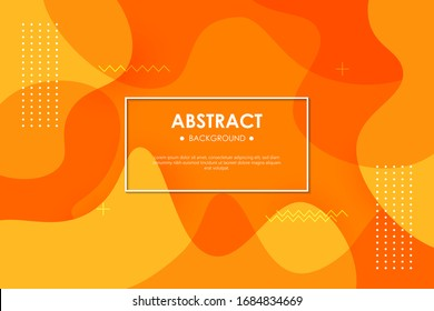 Dynamic orange textured background design in 3D style with orange color. EPS10 Vector background. - Shutterstock ID 1684834669