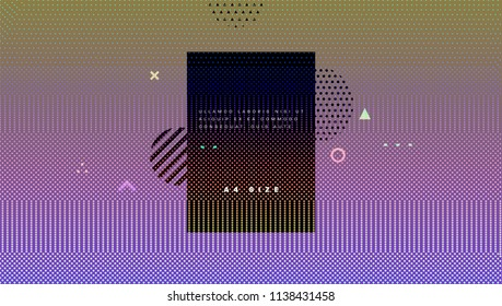 Dynamic particles geometric background. Digital technologies concept. Eps10 vector illustration