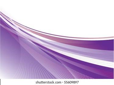 Dynamic Purple Swoosh