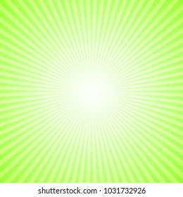 Dynamic ray burst background - lime green gradient vector design from radial stripes