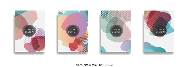 Dynamic style banner design set with fluid gradient elements. Creative illustration for poster, web, landing, page, cover, ad, greeting, card, social media, promotion.