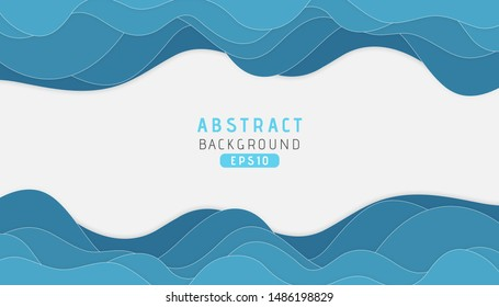 Dynamic texture background with blue wave shapes modern concept. Vector Illustration
