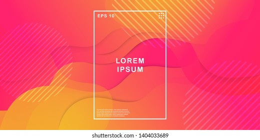 Dynamic texture background with fluid shapes modern concept. Creative geometric wallpaper. Trendy gradient shapes composition. Applicable for Banners, Placards, Posters, Flyers. Eps10 vector.