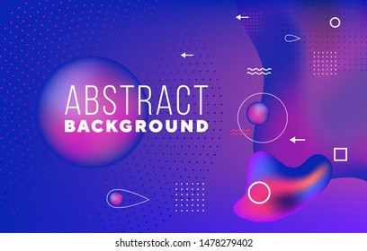 Dynamic texture background with fluid shapes modern concept. Creative geometric wallpaper. Trendy gradient shapes composition