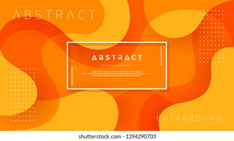 Dynamic textured background design in 3D style with orange color. EPS10 Vector background.
