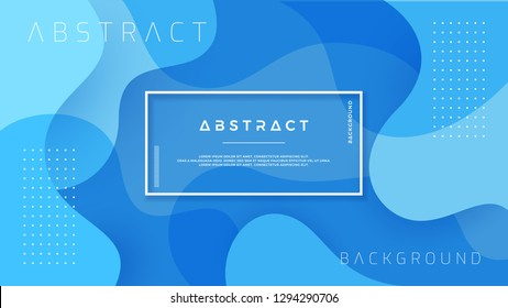 Dynamic textured background design in 3D style with blue color. EPS10 Vector background.