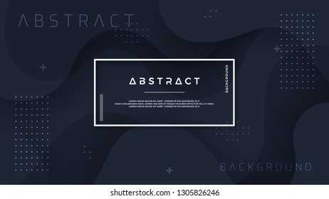 Dynamic textured background design in 3D style with black color. Can be used for posters, placards, brochures, banners, web pages, headers, covers, and other