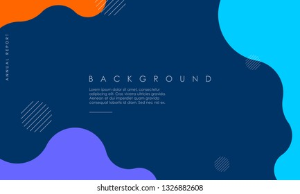 Dynamic textured background design in 3D style with blue, orange, purple color. Can be used for posters, placards, brochures, banners, web pages, headers, covers, and other
