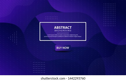 Dynamic textured background design. Abstract liquid background with purple gradient color. Modern vector templates.