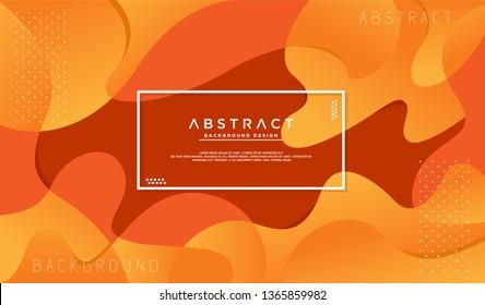 Dynamic textured orange background with fluid liquid shape