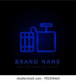 Dynamite blue chromium metallic logo