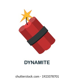 Dynamite flat icon. Color simple element from wild west collection. Creative Dynamite icon for web design, templates, infographics and more