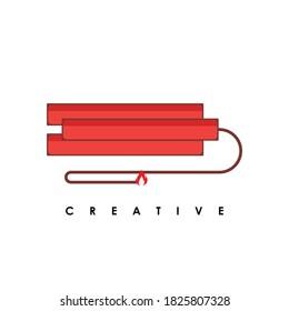 Dynamite logo design icon vector