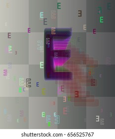 E Alphabet icon pattern